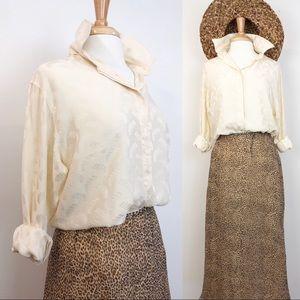 Vintage Silk Blouse • sz 14